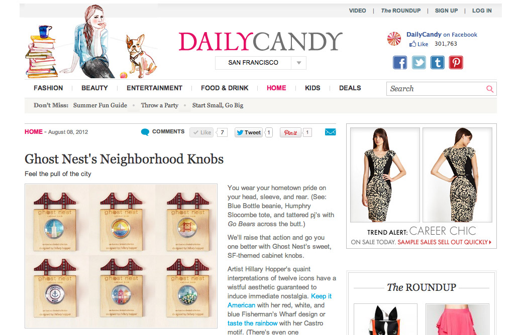 Featured on Daily Candy!