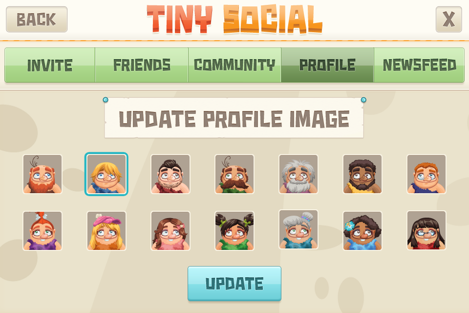 Tiny Village Game UI