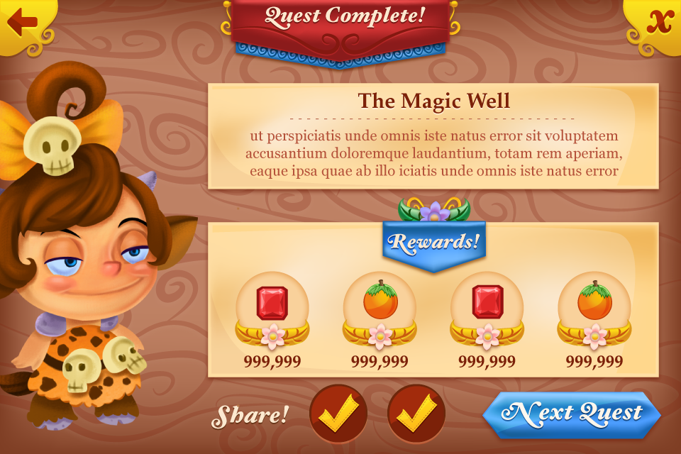 Quest Completion Screen